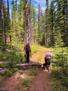 2019 Owl Mt. Jeep Trail clean-up - Delmar, Renee, Keith, & Carol