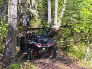 Chuck Meese driving the swamp on Owl Mt Jeep Trail