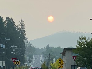 NE Washington got the smoke from the wildfires for this year's Pass Creek Pass ride!
