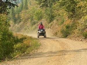 This route is ATV-friendly, and here on the Kaniksu NF side, OHVs are legal!
