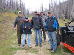 OHV Ambassadors leading road patrol to investigate road wash-out