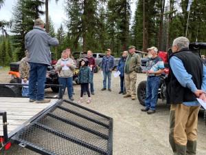 Pre-ride safety briefing at LPO's OHV Area near Beaver Lodge