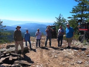TCMRA members enjoying the viewpoint on the 1st leg of the S. Huckleberry Jeep trail system
