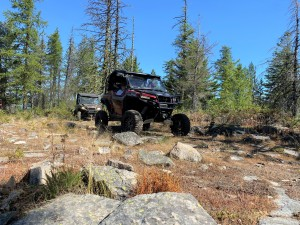"""Delmar Jackson in his 72"""" General with portals - this rig eats up the trails!"""