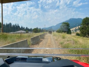 Using the Cougar OHV Trail across Curlew School property.