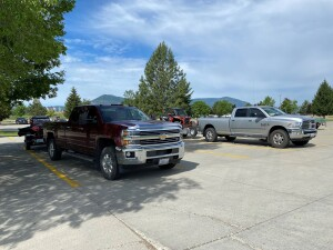 we used the Colville HS parking lot so we could legally cross Hwy 20 onto county roads.
