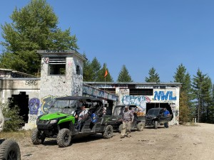 The old USAF buildings are now being used for paintball wars.