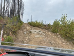 The trail to the old lookout site on top of Togo Mountain requires a USFS permit